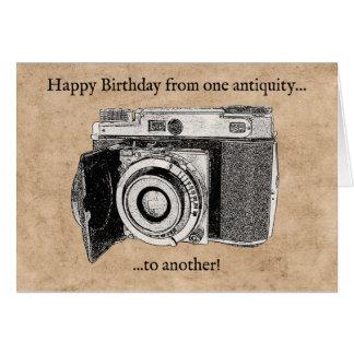 Funny Antique Camera Birthday Card