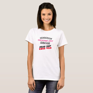 Funny (Any Name and Date) Vacation Survivor - T-Shirt