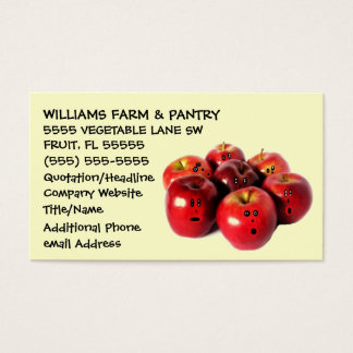 Funny Apple Orchard Advertising Business Card