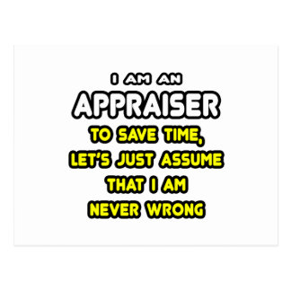 Funny Appraiser T-Shirts and Gifts Postcard