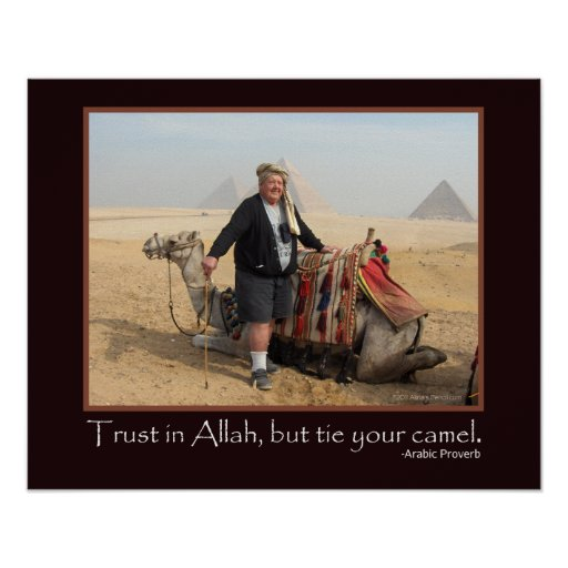 Funny Pictures About Egypt: Funny Arabic Proverb Egypt Pyramids Camel Photo Poster