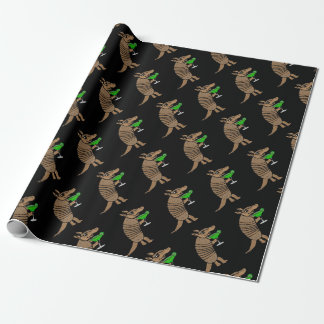 Funny Armadillo Drinking Margarita Art Wrapping Paper