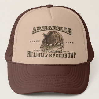 Funny Armadillo Speedbumps by Mudge Studios Trucker Hat