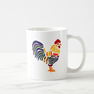 Funny Artistic Rooster Coffee Mug