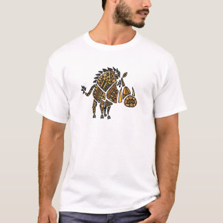 Funny Artistic Warthog Abstract Art T-Shirt