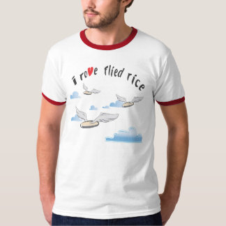 Funny Asian T Shirt - I rove flied rice