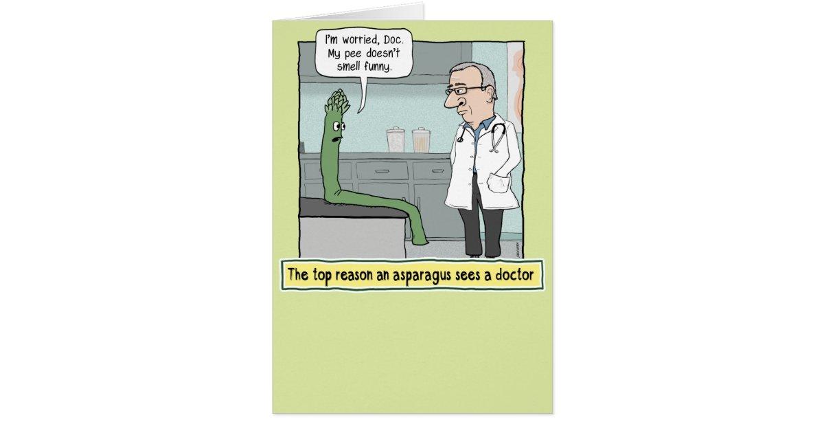 Funny Asparagus Pee Get Well Soon Card Zazzle Ca
