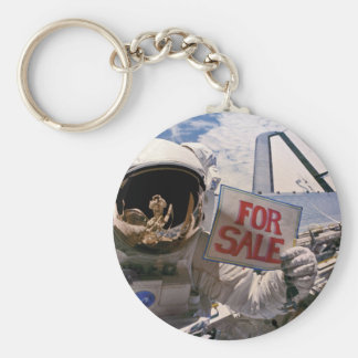 Funny Astronaut - Satellites For Sale Keychain