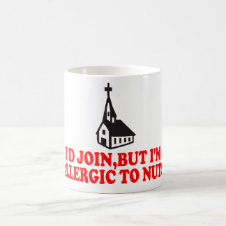 Funny atheist classic white coffee mug