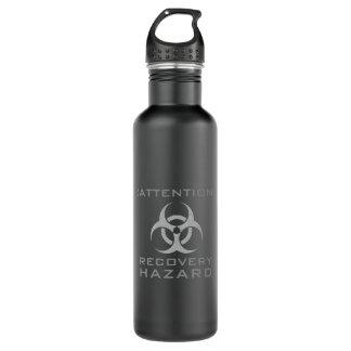Funny attention biohazard sign parody 710 ml water bottle