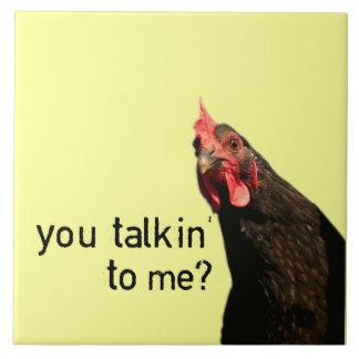 Funny Attitude Chicken Ceramic Tiles