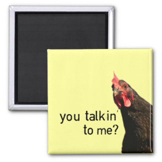 Funny Attitude Chicken - you talkin to me? Magnet