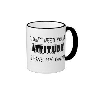 Funny Attitude T-shirts Gifts Coffee Mugs