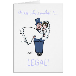 Funny Attorney Wedding Save The Date. Greeting Card