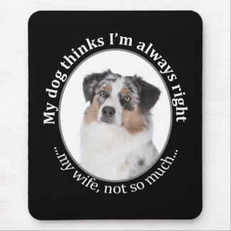 Funny Aussie v Wife Mousepad