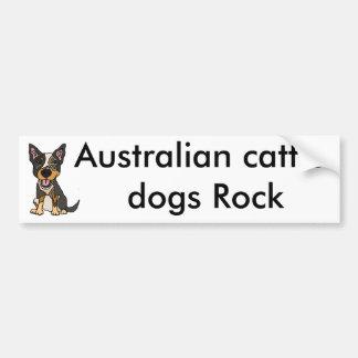 Funny Australian Cattle Dog Puppy Artwork Bumper Sticker