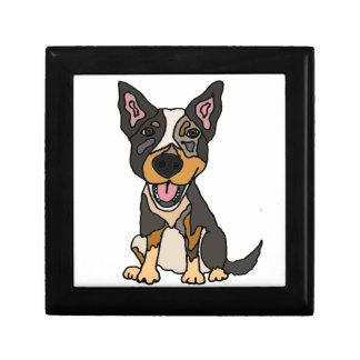 Funny Australian Cattle Dog Puppy Artwork Gift Box