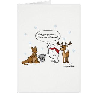 Funny Australian Christmas In Summer Card
