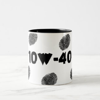 Funny Auto Mechanic 10W40 Greasy Fingerprints Mug