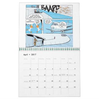 Funny Aviation Cartoons Calendar