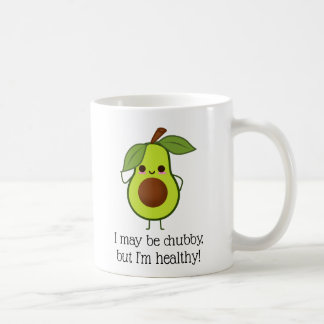 Funny Avocado Chubby But Good Fat Coffee Mug