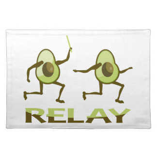 Funny Avocado Relay Race Placemat