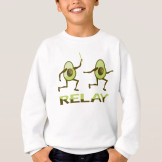 Funny Avocado Relay Race Sweatshirt