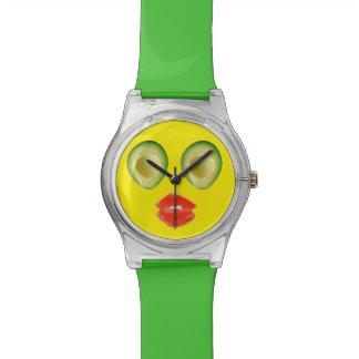 Funny Avocado Visage 4Penelope Wrist Watches