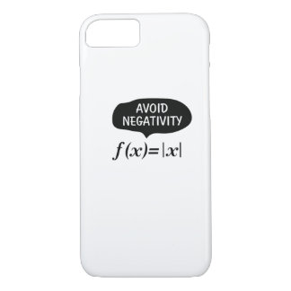 Funny Avoid Negativity Math Nerd Geek Student iPhone 8/7 Case