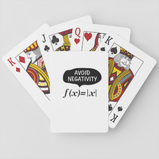 Funny Avoid Negativity Math Nerd Geek Student Playing Cards