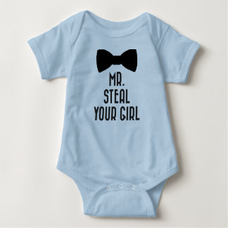 Funny Baby Boy Bodysuit - Mr. Steal Your Girl