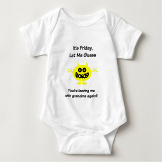 Funny Baby Clothes It's Friday,Let Me Guess. Baby Bodysuit