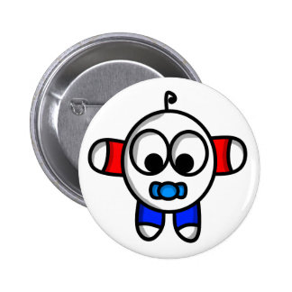 funny baby dude 2 inch round button