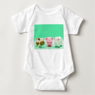 Funny Baby Farm Animals Cow Pig Sheep T-Shirt