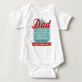 Funny Baby Onsie for Father's Day Baby Bodysuit