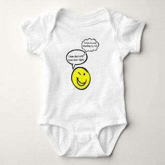 Funny Baby Saying I saw Dad with mom last night... Baby Bodysuit