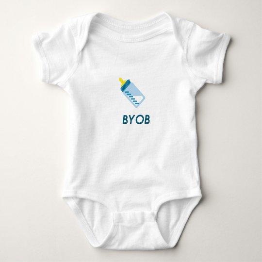Funny baby vest bodysuit - BYOB milk bottle
