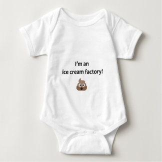Funny baby vest - poo ice cream maker baby bodysuit