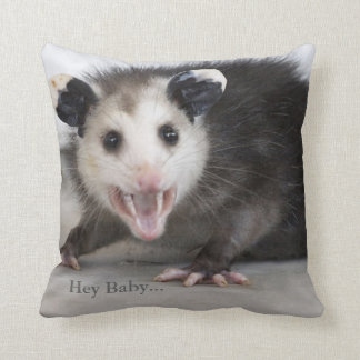 Funny Bachelor Pad Opossum Throw Pillow