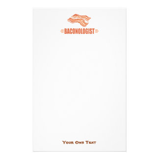 Funny Bacon Baconologist Stationery