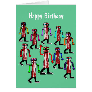 Funny Bacon & Egg Birthday Card Gift
