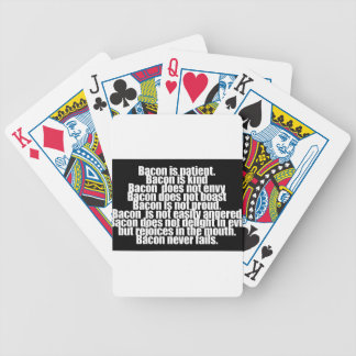 Funny Bacon is Kind parody Bicycle Playing Cards