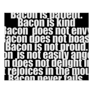 Funny Bacon is Kind parody Poster