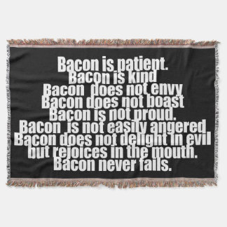 Funny Bacon is Kind parody Throw Blanket