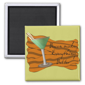 Funny Bacon Martini Magnet