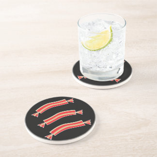 Funny Bacon Meat Candy Treats Beverage Coasters