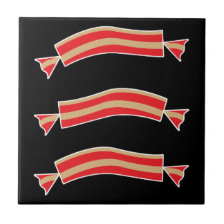 Funny Bacon Meat Candy Treats Ceramic Tile