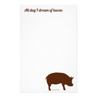 Funny bacon stationery