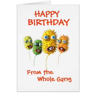 Funny Bacteria greeting card