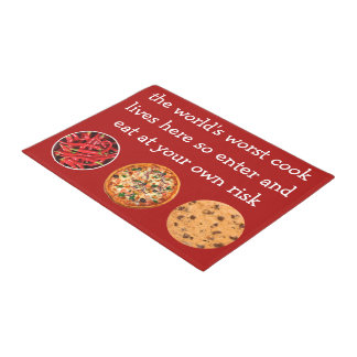 Funny Bad Chef Visitor Welcome Mats